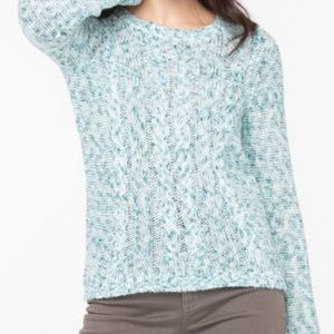Scoop Neck Cable Knit Sweater
